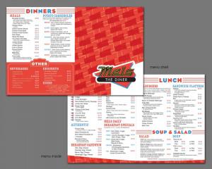 Mel Diner Menu Design
