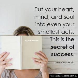 Quotecard The secret of success