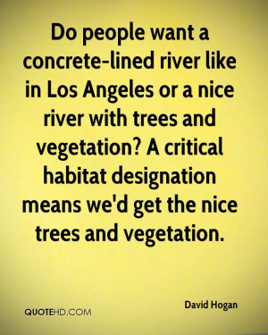 ... vegetation? A critical habitat designation means we'd get the nice