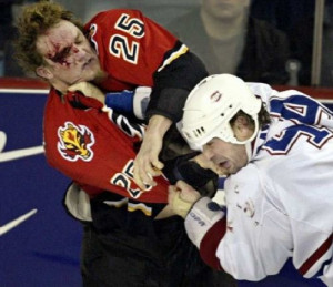 ... zack stortini fights with the best worst hockey fight of hockey fight