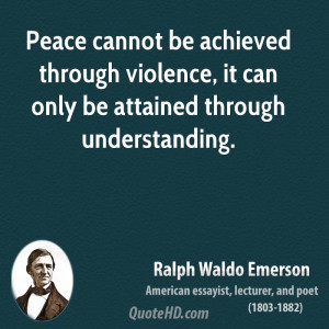 Ralph Waldo Emerson Peace Quotes