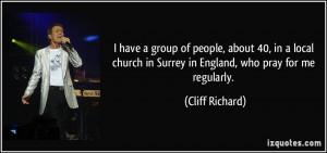 have a group of people, about 40, in a local church in Surrey in ...