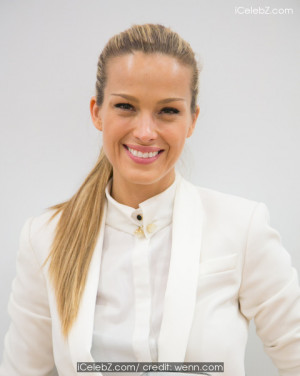 Petra Nemcova at the Century City Mall in Los Angeles with Extra TV