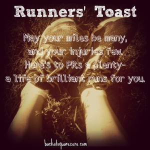 How about with a runners' toast?!?
