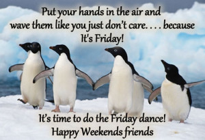 ... don't care.... because It's Friday ! It's time to do the Friday dance