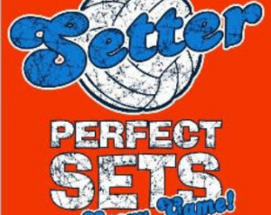 Setter Perfect Sets Every Game Voll eyball T-Shirt ...