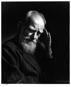 ... George Bernard Shaw by Yousuf Karsh, 1943 - bromide print (NPG, London
