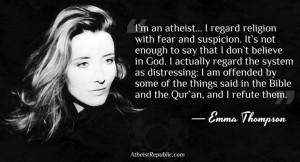 Celebrity Atheist QuotesEmmathompson, Regarding Religion, Famous ...