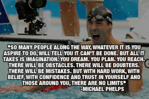 Michael Phelps Motivational Quote