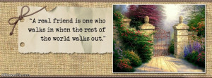 Real Friends Quotes Facebook Cover Photos