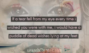 if a tear fell from my eye every time I wished you were with me, I ...