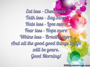 Hate less – Love more...
