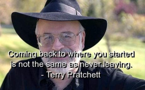 Terry pratchett, quotes, sayings, coming back, wisdom