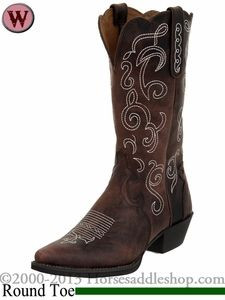 Justin Boots Women's Chocolate Puma Cow Boots L2702. Love!!!