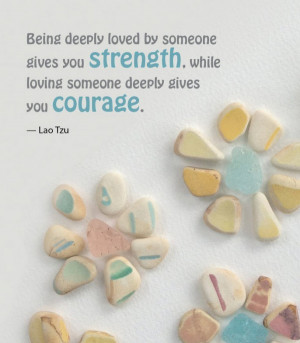 Sea Glass Book - Strength and Courage Quote