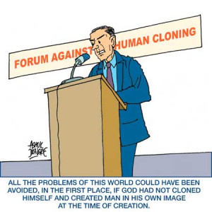 an argument against the human cloning Arguments against reproductive cloning and 'therapeutic' cloning presented for a debate sponsored by the center for global tolerance and engagement.