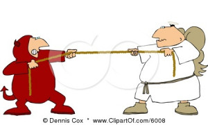 6008-Tug-Of-War-Battle-Between-Good-And-Evil-Devil-And-Angel-Clipart ...