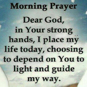 Morning Prayer.... thank you o father for another wonderful saturday,