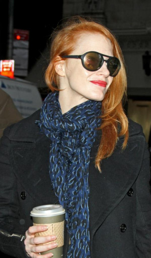 Jessica Chastain Arriving At The Walter Kerr Theatre For Broadway