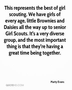 the best of girl scouting. We have girls of every age, little Brownies ...