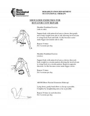 Rotator Cuff Exercises Help