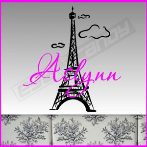 Eiffel Tower/Name Wall Words Quote Sticker Decal Saying