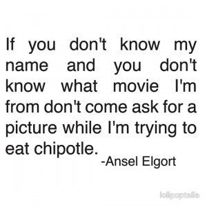 lolipoptalia › Portfolio › Ansel Elgort Chipolte Quote Tweet