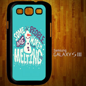 1151 Disney Frozen Olaf Frozen Collage Quotes Samsung Galaxy S3 case ...