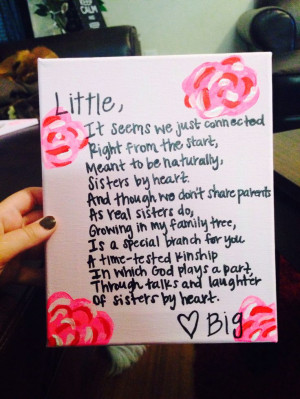 Diy, Big Little Poem, Big/Little Sorority Reveal, Sorority Big Little ...
