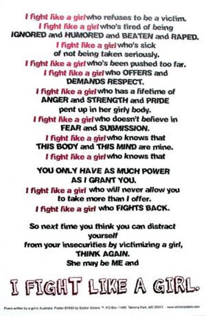 fight like a girl.....