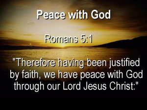 Peace With God Verses