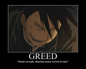 anime fullmetal alchemist brotherhood character greed quote john ...