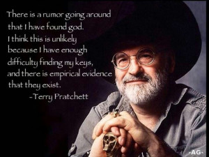 Terry Pratchett. Hahaha! I'm not an atheist, but this is funny.