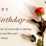 Love You Honey Happy Birthday