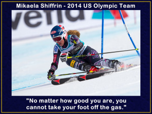 Mikaela Shiffrin Photo Quote Mini Poster Wall Art Print 8x11