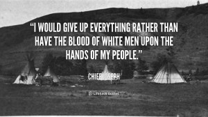 would give up everything rather than have the blood of white men ...