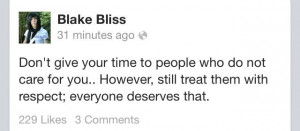 Blake Bliss quote
