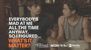 The Fosters ABC Family   Season 1, Episode 3 Hostile Acts   Quotes