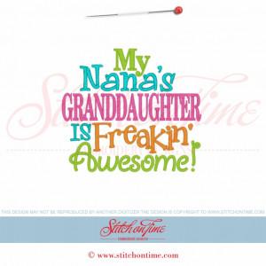 Granddaughter Sayings 5685 sayings : my nana's