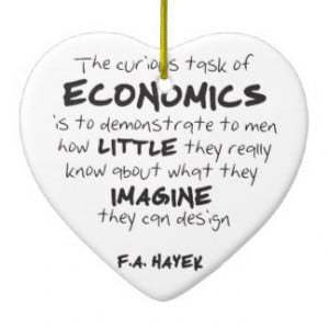 ... Task of Economics Double-Sided Heart Ceramic Christmas Ornament