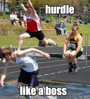 Funny Pictures - Hurdle like a boss