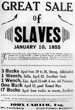 Slaves for sale.
