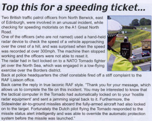 Top this for a speeding ticket
