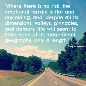 31 Days of Rest & Risk :: Day 13 ~ Diane Ackerman