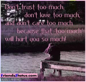 Sad Quotes Fb Status ~ Sad fb status hurt you so much