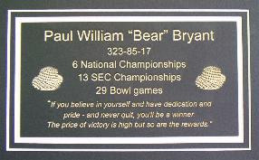 ... famous quote about how to be a winner. Also features an engraving of