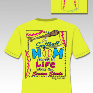 Sassy Frass Funny Softball Mom Sports Sweet Thing Bright T Shirt More