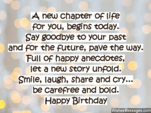Inspirational birthday quote for turning 40 years old