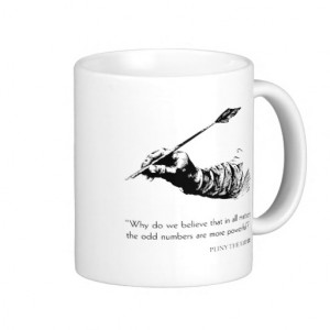 Pliny The Elder Quote - Odd Numbers - Quotes Classic White Coffee Mug