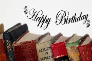 ... › Portfolio › Happy Birthday (older) card - Old fashioned Books